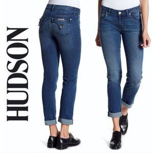 EUC Hudson Jeans Bacara Straight Flood cuff crops